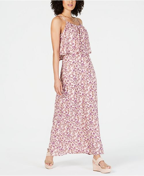 NY Collection Petite Popover Maxi Dress