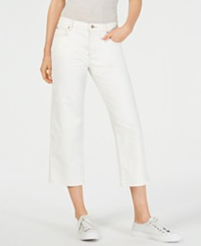 Eileen Fisher Cropped Straight-Leg Jeans