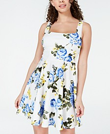 Juniors' Tie-Back Fit & Flare Dress, Created for Macy's