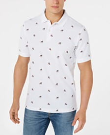 Club Room Men's Americana Bulldog Printed Polo, Created for Macy's