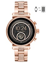 ff001a2a4784 Michael Kors Access Women s Sofie Heart Rate Rose Gold-Tone Stainless Steel  Bracelet Touchscreen Smart