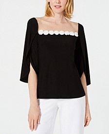 Illusion Flower Appliqué Top, Created for Macy's