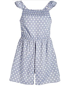 Epic Threads Big Girls Dot-Print Skort Romper, Created for Macy's