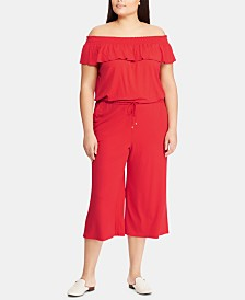 Lauren Ralph Lauren Plus Size Ruffled Jumpsuit