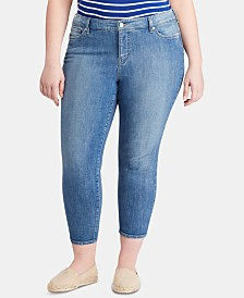 Lauren Ralph Lauren Plus Size Straight Ankle-Grazing Jeans