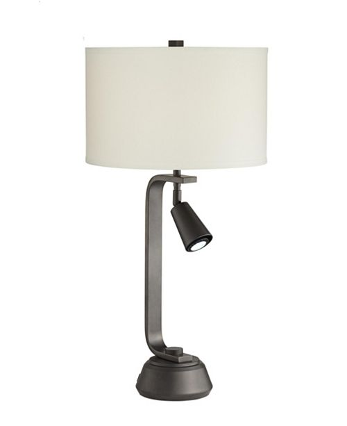 Pacific Coast Metal Transitional Table Lamp with Spotlight