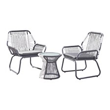 Idaho Outdoor 3pc Dining Set, Quick Ship