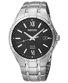 Watch, Men's Solar Stainless Steel Bracelet 38mm SNE215