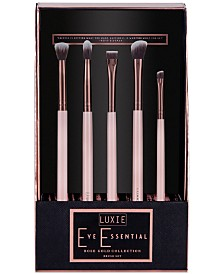 LUXIE 5-Pc. Rose Gold Eye Essential Brush Set