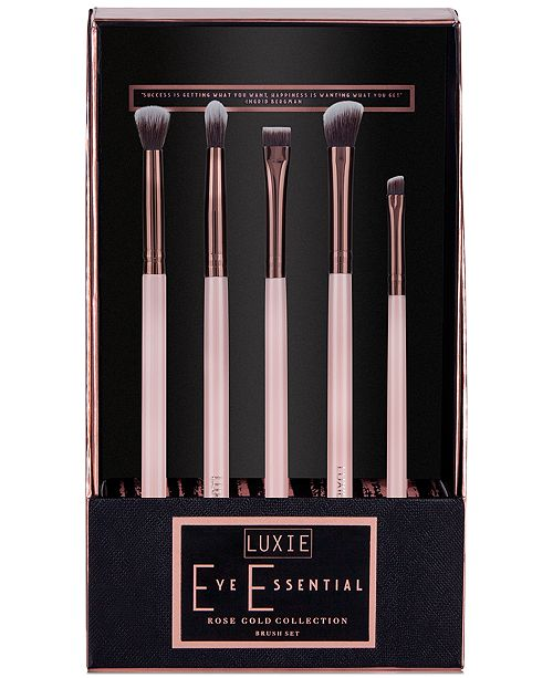 5-Pc  Rose Gold Eye Essential Brush Set