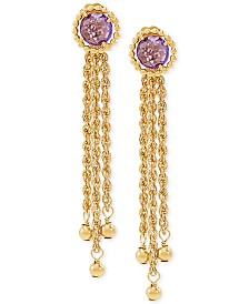 Amethyst Drop Earrings (1-1/2 ct. t.w.) in 10k Gold
