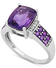 Amethyst (2-5/8 ct. t.w.) & Diamond Accent Statement Ring in Sterling Silver