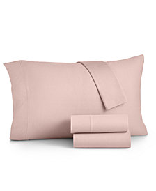 Martha Stewart Essentials Jersey 4-Pc. King Sheet Set, Created for Macy's