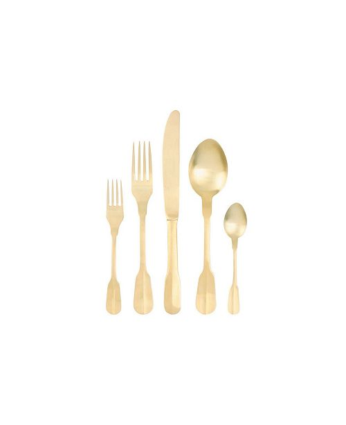 Canvas Home Madrid Cutlery Matte Gold 5 Pc Place Setting