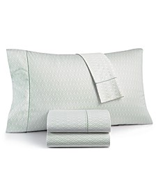 Textured Lattice Cotton 525-Thread Count 4-Pc. Queen Sheet Set, Created for Macy's