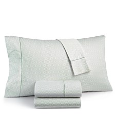 CLOSEOUT! Hotel Collection Textured Lattice Cotton 525-Thread Count 4-Pc. King Sheet Set, Created for Macy's