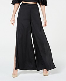 Juniors' Printed Side-Split Palazzo Pants, Created for Macy's