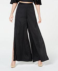 Material Girl Juniors' Printed Side-Split Palazzo Pants, Created for Macy's