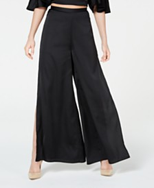 Material Girl Juniors' Printed Side-Split Palazzo Pants, Created for Macy's