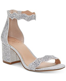 Hadwin Scallop Block-Heel Sandals, Created for Macy's