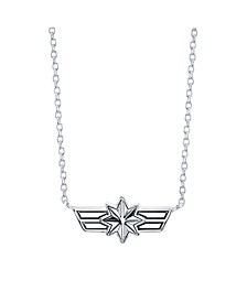 "Star Shield Pendant Necklace in Sterling Silver for Unwritten, 16"" + 2"" extender"