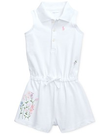 Polo Ralph Lauren Baby Girls Floral-Print Cotton Romper