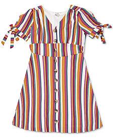 Speechless Big Girls Striped Button-Up Dress
