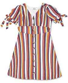 Speechless Big Girls Striped Button-Up Dress