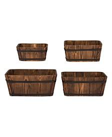 Rectangular Cedar Barrel, Set Of 4