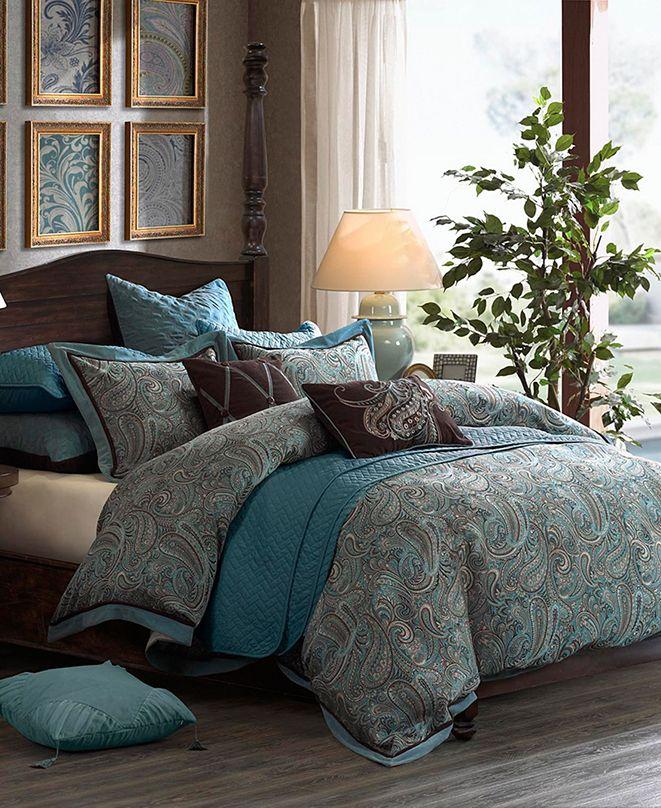JLA Home Hampton Hill Lauren King 9 Piece Comforter Set
