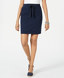 Style & Co Petite Woven Tie-Waist Skirt, Created for Macy's