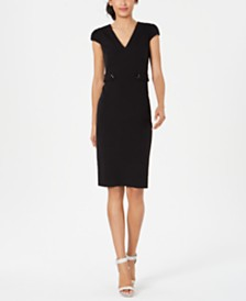 Calvin Klein Tab-Waist Sheath Dress