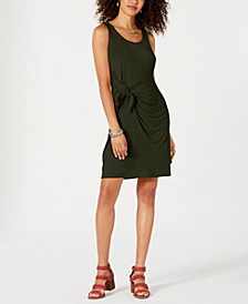 Petite Knot-Front Knit Tank Dress, Created for Macy's