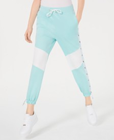 Waisted Colorblocked Jogger Pants