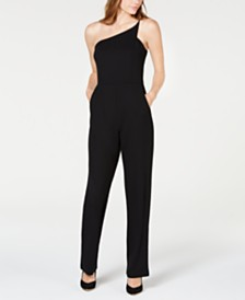 Teeze Me Juniors' One-Shoulder Jumpsuit