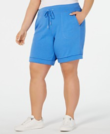 Calvin Klein Performance Plus Size Cuffed Shorts