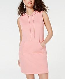 Juniors' Printed Sweatshirt Hoodie Dress, Created for Macy's