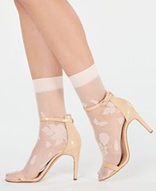 I.N.C. 2-Pk. Stamped Floral Anklet Fashion Socks, Created for Macy's