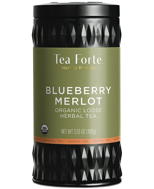 Tea Forte LTC Blueberry Merlot Loose-Leaf Herbal Tea