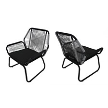 Milan Outdoor Club Chair (Set of 2), Quick Ship