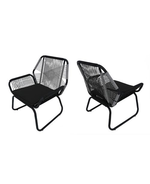 Noble House Milan Outdoor Club Chair (Set of 2), Quick Ship
