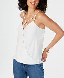 Thalia Sodi Strappy-Trim Tank Top