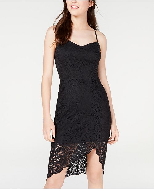 Material Girl Juniors' Tie-Back Lace Bodycon Dress, Created for Macy's
