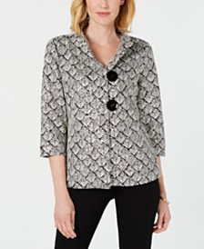 JM Collection Printed jacket, Created for Macy's