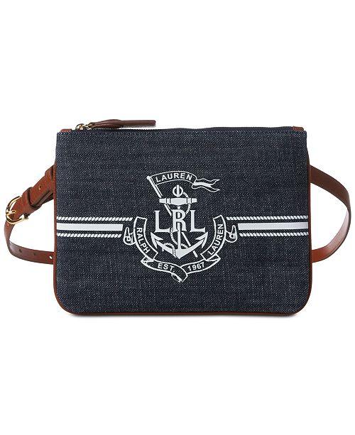 Lauren Ralph Lauren Huntley Logo Plus-Size Belt Bag