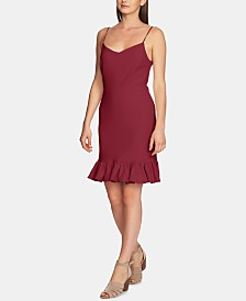 1.STATE Ruffle-Hem A-Line Dress