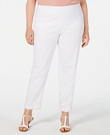 Plus Size Studded Ankle Pants, Created for Macy's