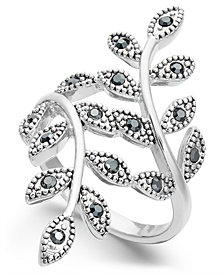 INC Crystal Leaf Wrap Ring, Created for Macy's