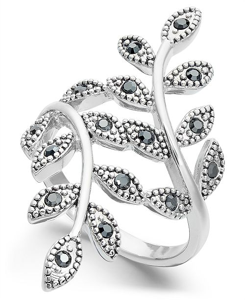 INC International Concepts INC Crystal Leaf Wrap Ring, Created for Macy's