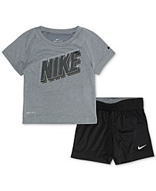Baby Boys 2-Pc. Dri-FIT T-Shirt & Shorts Set